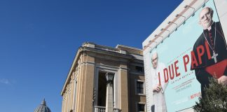 Two Popes movie poster in Rome - Licas news