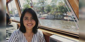 Avril de Torres on a boat