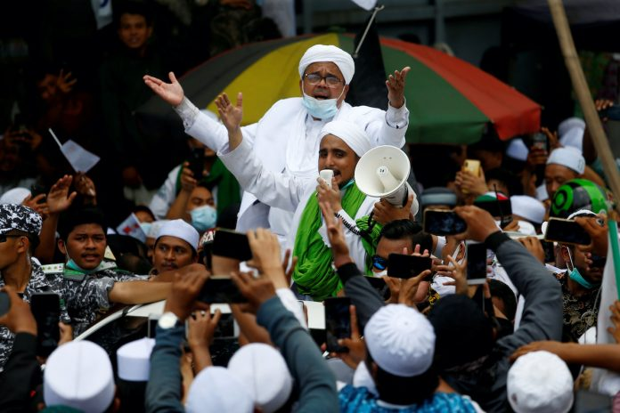 Rizieq Shihab, the leader of Indonesian Islamic Defenders Front (FPI)