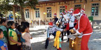 Fr. Girish Santiago, SJ as Santa Claus
