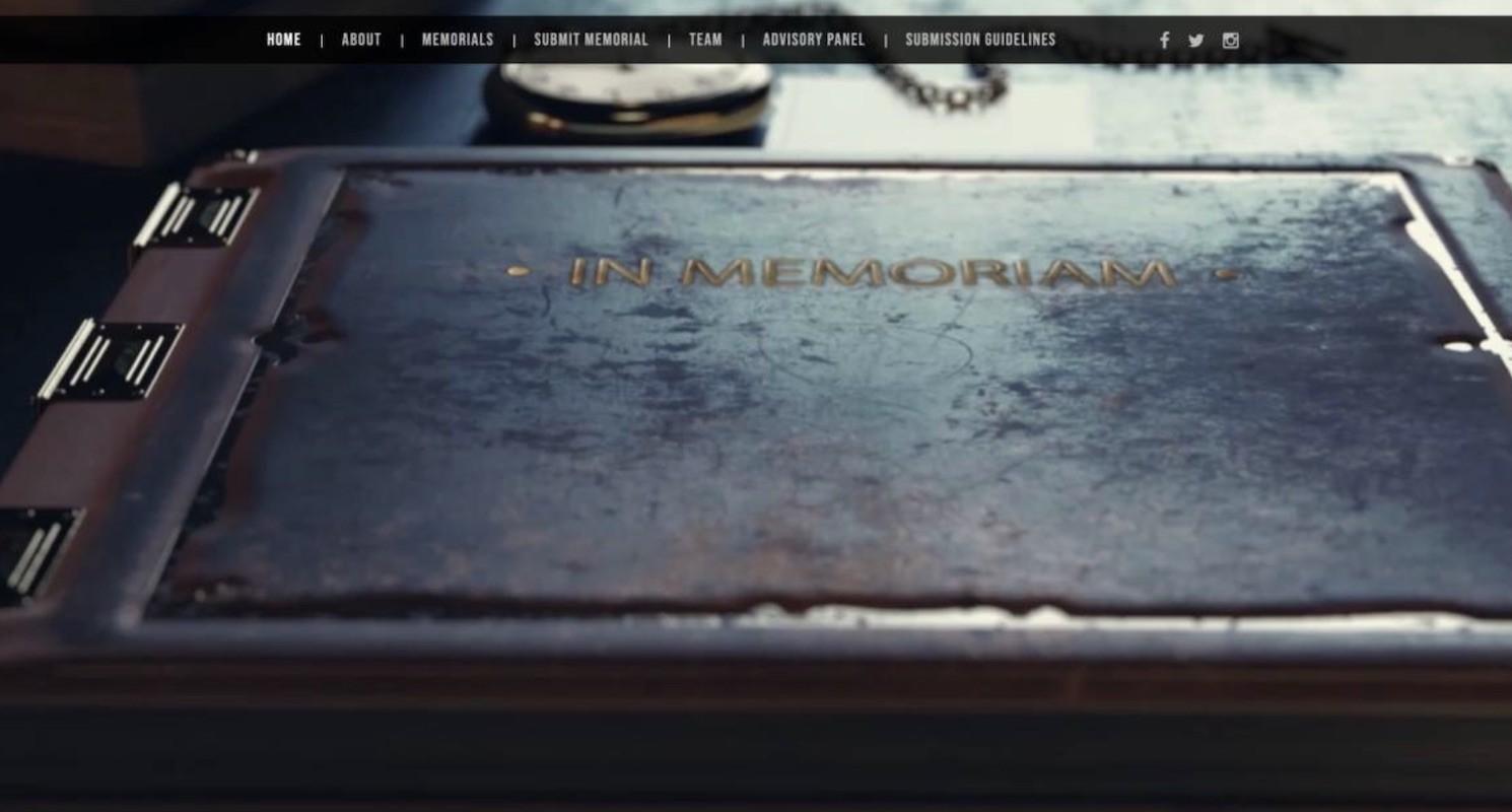 Memorial web page